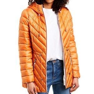 NWT French Connection Packable Puffer Anorak Coat